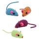 Іграшка для котів мишка кольорова з нейлону
