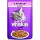 Корм консервований для котів Whiskas лосось в соусі 100г