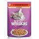 Корм консервований для котів Whiskas цільні шматочки яловичини в соусі 100г